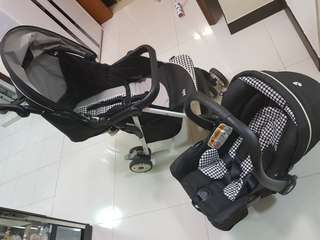 Joie stroller with car seat