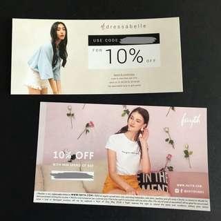10% Fayth & Dressabelle Discount Code!