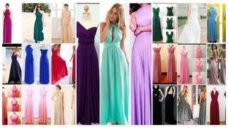 Adult infinity dress  No with tube  Can 27ways wear  Free size  Can fit s to l