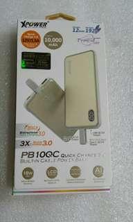 PB1OQC QC 3.0內置Type-C線外置充電器
