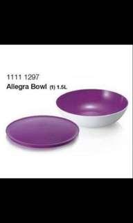 Tupperware Allegra bowl purple1.5 L(1)
