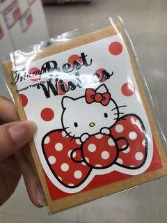 Hello Kitty Best Wishes Mini card