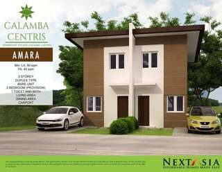 2 storey house Duplex at Calamba Centris