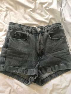 American Apparel high waisted denim shorts. Size 27 XS-S