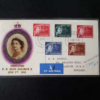 South West Africa 1953 First Day Cover
