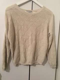 Beige sparkly sweater