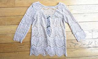 Local brand ponytale lace top