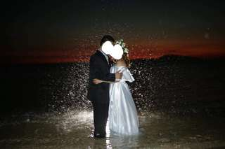 White Long Gown for Prenup