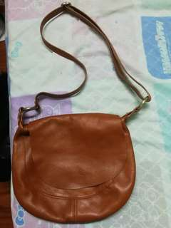 Genuine Leather Shoulder Bag from Italy