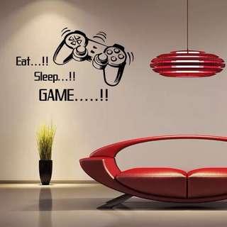 (86X53cm)Eat sleep game wall decal sticker