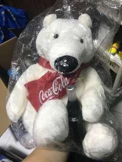 Collectible Coca-Cola Polar bear plushie soft toy BNIB
