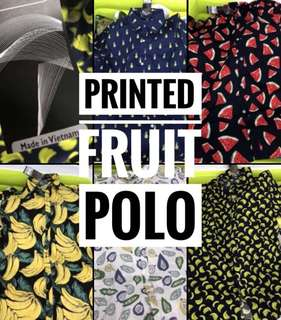 PREORDER UNISEX Printed Fruit Polo