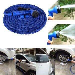 High Pressure Water Wash Pipe Gun 50FT Flexible Car Garden Hose Sprayer Cleaner