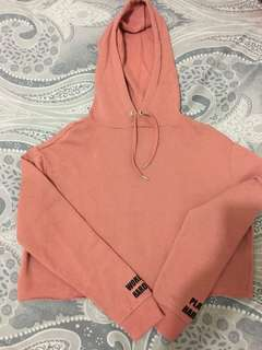 Preloved-H&M hoodie crop top
