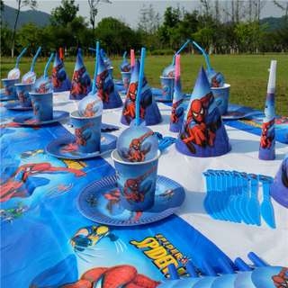 Spiderman theme party set for 10 pax