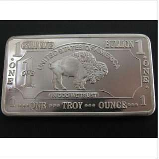 German Silver U.S.A. 1 Silver Bullion Bar