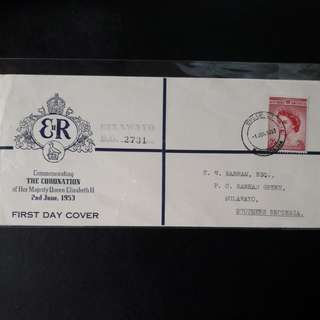 The Coronation 1953 First Day Cover