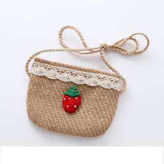 [ Mini Pouch ] with 2 designs - Strawberry/Cherry