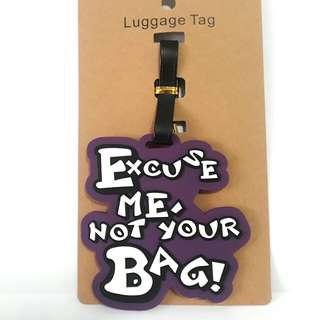 Dont touch my back Luggage Tag