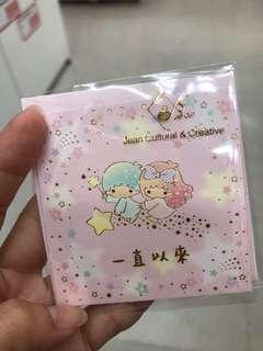 Little twin stars thanks mini card