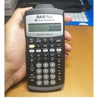 BAII Plus TI Texas Instruments Financial Calculator