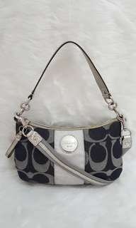 FIXED PRICE! Auth Coach Denim 2way sling crossbody bag michael kors kate spade