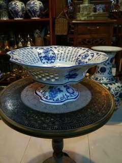 Bekas Mangkok buah porcelain china A1