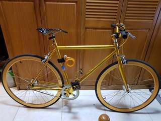 Rush sale Gold Bicycle