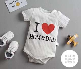 I love Mom&Dad Baby Romper