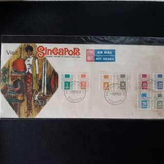 Singapore Postage Due 1969 First Day Cover