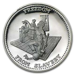 "Johnson Mathey - ""Freedom From Slavery"" Silver Coin"