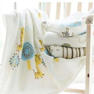 MaoMaoYu High Quality Baby Blanket Cotton Bamboo Microfiber 90X90CM