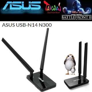 ASUS USB N14 Wireless N300 USB Adapter, 2 x 5 dBi Detachable Antennas