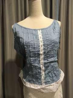 Sweet blue vintage top