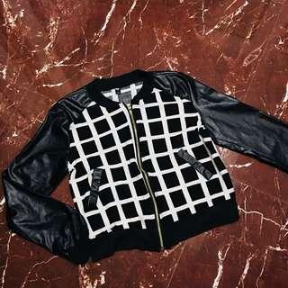Black & White Checkered Jacket