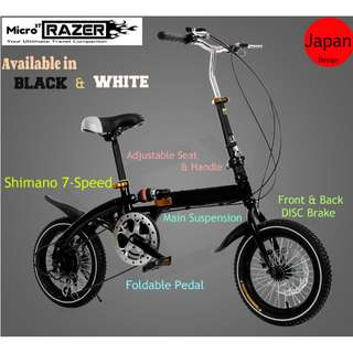 Free Delivery -Full suspension-Brand new Foldable Bicycle with Disk brakes & Shimano gear etc
