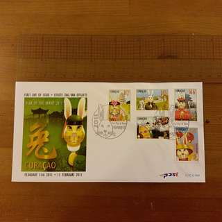 Year of Rabbit 2011 First Day Cover (Netherlands Antilles)
