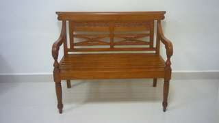 Antique Teak Wooden Chair For Sale