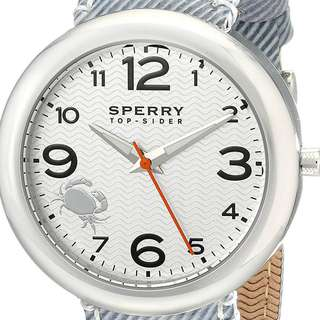 Original Sperry TopSider Womens Watch with Striped Canvas Band NIB