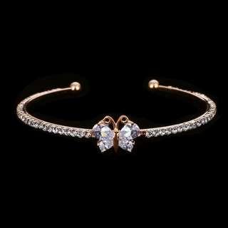 Butterfly Cuff Gold Color Bracelet