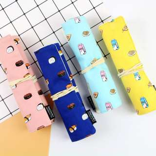 Milk and Sushi Roll Up Pencil Case