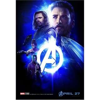 infinity war poster team cap set