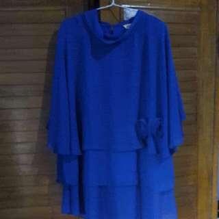 Blouse blue chifon