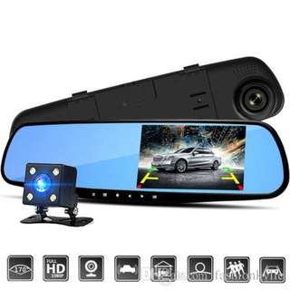 4.3 Inch Dual Lens Car Camera Rear View Parking Carcam