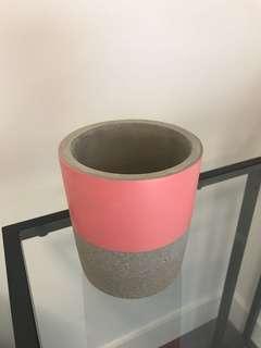 Pink Cement Pot