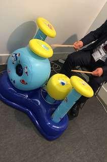 Children 4 piece inflatable Toy drum with speaker