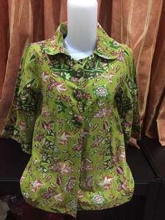 Batik Hijau Bunga