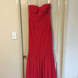 Red Fishtail Formal Dress