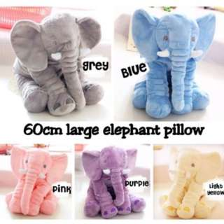 [Extra Fluffy!!!] Elephant Soft Toy Pillow/ 60cm Large