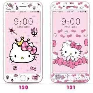 保護膜 IPhone6/7/8/plus : HelloKitty吉蒂貓 3D軟邊鋼化膜